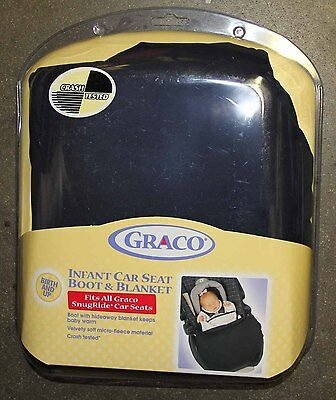 Graco Infant Car Seat Boot & Blanket For All Snugride Car Seats - New !