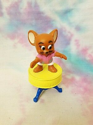 Tom and Jerry Toy Figure on Stool 1989 Turner Entertainment