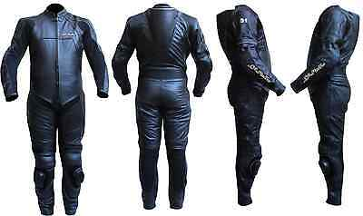 Motorbike Motorcycle Leather One Piece Leather BLACK 9000 L