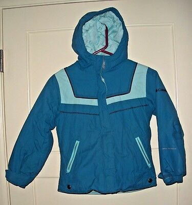 Girl's COLUMBIA Sportswear Fleece Lined Hooded Coat Ski Jacket Size: 7/8