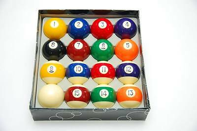 "Standard 2 1/4"" Pool Ball Set Pool Billiards Ball Set with FREE SHIPPING COST"