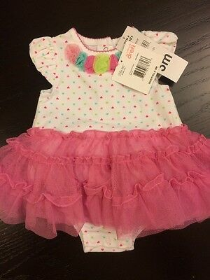 Little Me Pink Print NWT Baby Girl 3 Month Tutu Dress