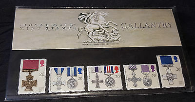 Great Britain 1990 Gallantry Awards Stamp Set - As New in Sleeve.