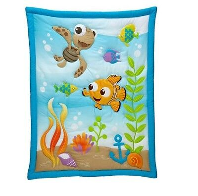 Disney Nemo Day at Sea Baby Crib Applique Comforter only