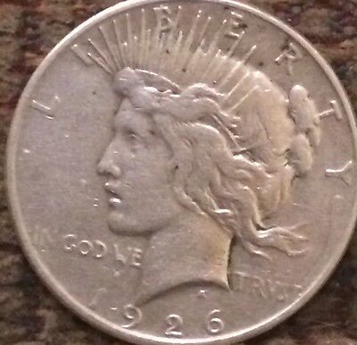 ☮ 1926 S PEACE ☮✌️✌☮☮ SILVER Dollar In Collectable Condition No Dings!!