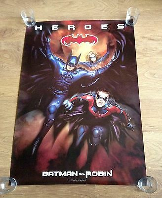 "Batman & Robin HEROES Original US One Sheet 40"" X 27"" 1997 very Collectable."