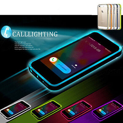 LED FLASH LIGHT UP Remind Incoming Call Cover Case Skin For iPhone 6