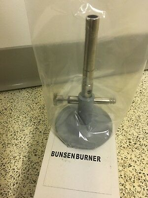 Bunsen Burner w/ Air Regulator & Needle Valve Liquid Propane Bottle Gas NIB