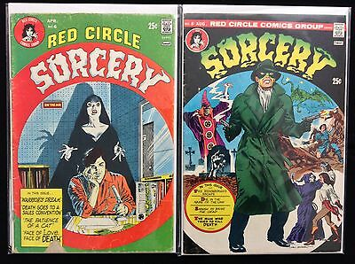 SORCERY Lot of 2 Red Circle Comic Books - #6 8!