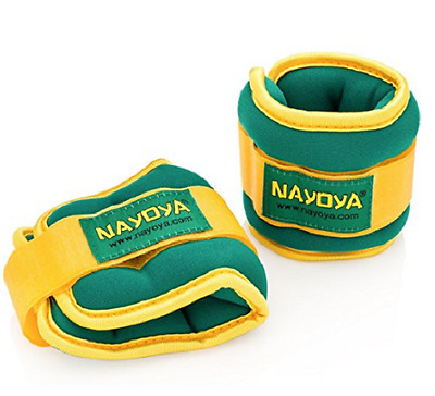 Nayoya 3 Pound Adjustable High Quality Soft Velcro Ankle Weights For Exercise