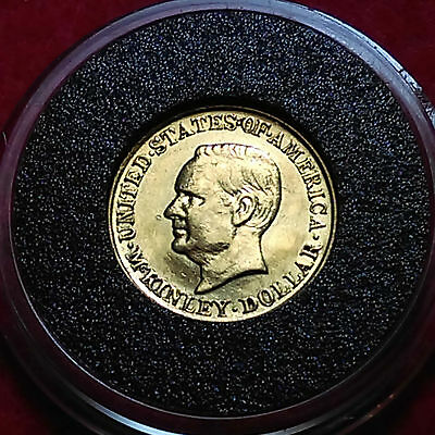 1916 $1 McKinley Gold Commemorative Dollar - Rare Low Mintage Only 15,000