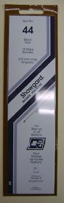 Showgard size 44 black hingeless stamp mount NEW unopened pack 1st quality 215mm