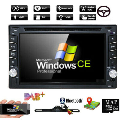 "6.2"" GPS Navigation HD Double 2 DIN Car Stereo DVD Player Bluetooth iPod MP3 TV~"