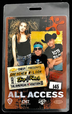 Big & Rich with Gretchen Wilson - All Access Tour Laminate Backstage Pass - 2011