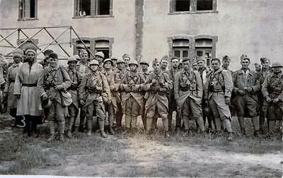 RPPC - WW I Large Group Of French Soldiers