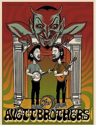 The Avett Brothers 9/9/16 Poster Columbus OH Signed & Numbered #/50