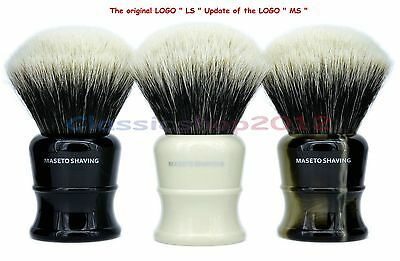 MS - Fan Shape 2 Band 100% Finest Badger Shaving Brush &Classic Handle 30mm Knot