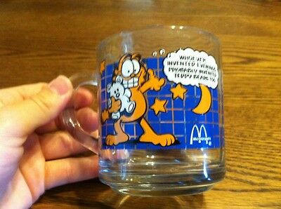 Vintage Garfield McDonald's Promotional Glass Coffee Mug 1978 Anchor Hocking