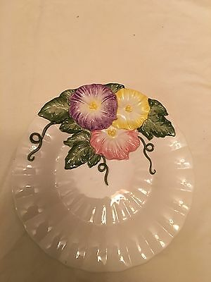 Fitz And Floyd Morning Glories Plate 1993