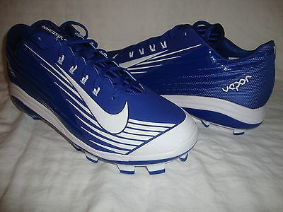 Men's Nike 716684 Lunar Vapor Pro MCS Low Molded Baseball Cleats Size 11.5 Blue