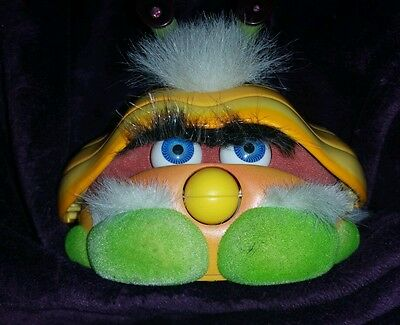 2001  Furby Friend Yellow & Green SHELBY - Tiger Electronics Interactive Toy
