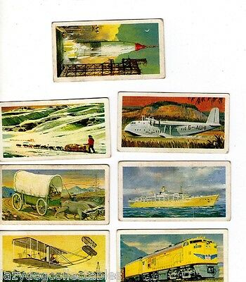 Brooke Bond Tea Collector Cards TRANSPORT THROUGH THE AGES