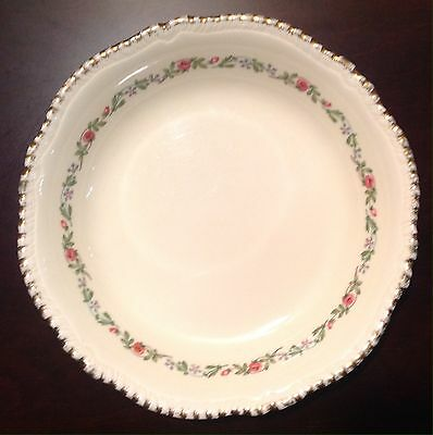 """Ridgways Staffordshire England China 302 Cereal Bowl 7.5"""" Warranted 22 Kt Gold"""