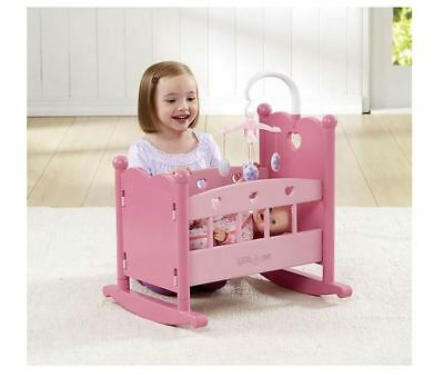 Doll Cradle Bed Cot Crib You & Me Wooden Assorted Sleep Rock Kids Girls Toys Fun