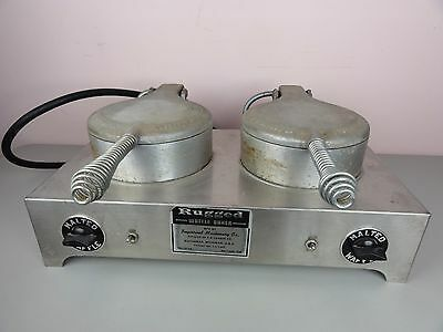 VTG Commercial Double Rugged Waffle Cone Baker/Maker F S Carbon Co Pizzelle