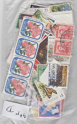 40 grams New Zealand stamps off paper (approx 150+ stamps) D