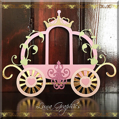 PRINCESS CARRIAGE Embellishments Paper Piecing scrapbooking NOT FOR RESALE