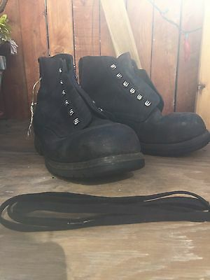 Swiss 28, - US 10 Army Military Mountain Boots Dark Brown Black