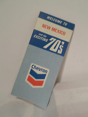 Vintage 1970 Chevron New Mexico Road Map Folding Advertising Map Highway Gas Oil