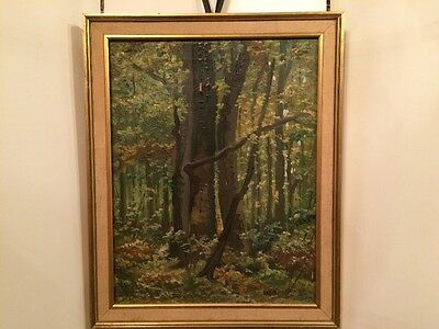 Antique European School Impressionism Oil Painting on Canvas Signed & Framed