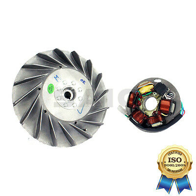 Saio Kick Start FlyWheel + Stator Plate Kit 12V For Vespa PX LML