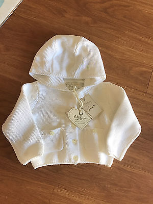BNWT Next Baby Heavy Knit Hooded Cardigan 9-12 Months