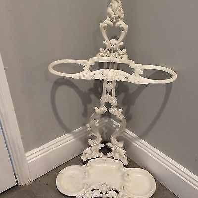 Vintage Shabby Chic Umbrella �� Stand Cast Alloy