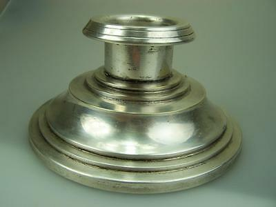 Danish silver plated capstan inkwell ink well