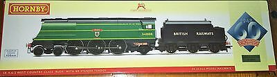 """Hornby Oo Gauge R2685 Class 7P West Country 4-6-2 34006 """"bude"""" - Ltd Ed Of 2000"""