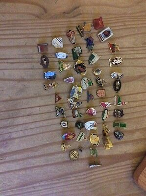 50  Rugby Union Metal Pin Badges...,.,.,