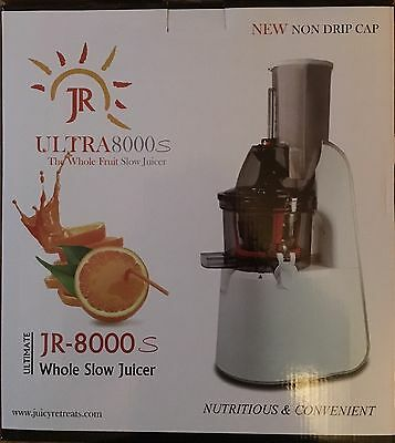 JR Ultra 8000 S Whole Masticating Slow Juicer, Smoothie Maker Brand New