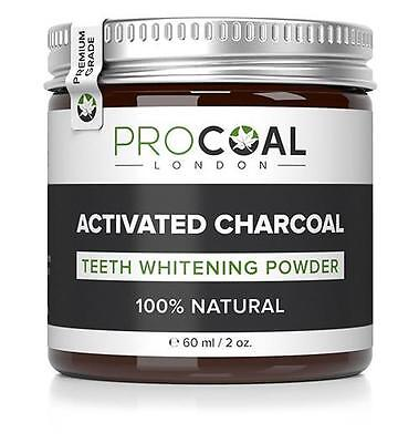 PROCOAL Activated Charcoal Teeth Whitening Powder 60ml (Premium Grade) 60ml