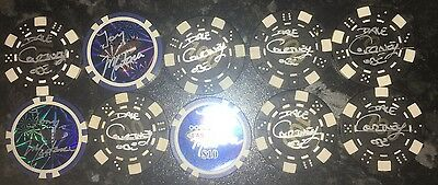 Signed  Poker Chip Collection Dave Courtney Tony Montana Scarface Gangster