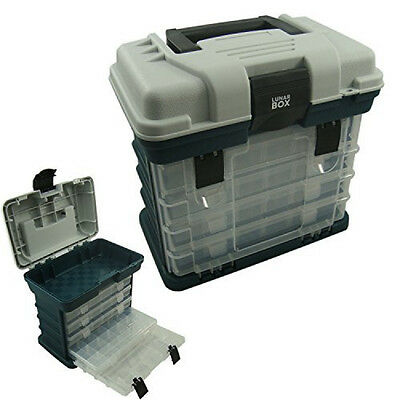 FISHING TACKLE BOX Carry Case Utility Storage Tool Box 4 Drawers Organizer Tray