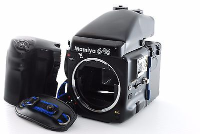 Mamiya 645 Pro Body with AE Prism Finder 120 Film Back [Excellent++] from Japan