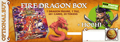 """Arcadia Quest Inferno Fire Dragon Expansion + Ks Exclusive Mini """"hoshi"""" New Neuf"""