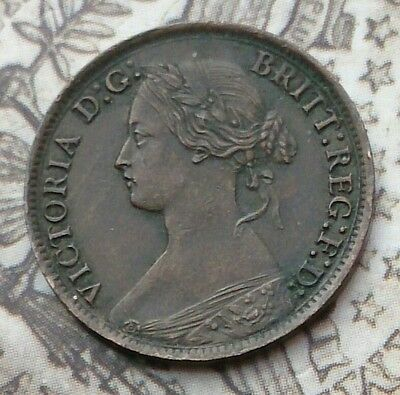1865 over 3 farthing very rare in this top grade