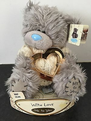 """Boxed 6"""" Me To You Tatty Teddy Bear - With Love Gold Heart"""