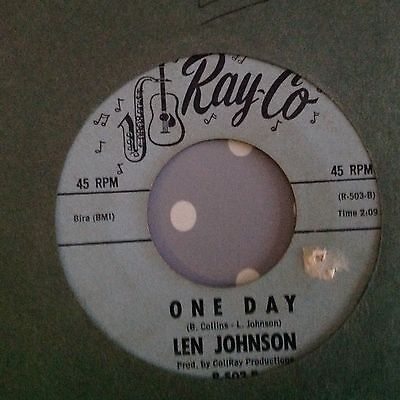 Len Johnson-One Day/sweet Thing-Ray Co R-503. Vg+