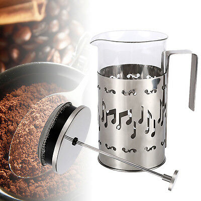 1000ml Stainless Steel Filter Glass Tea Coffee Cup French Plunger Press Maker